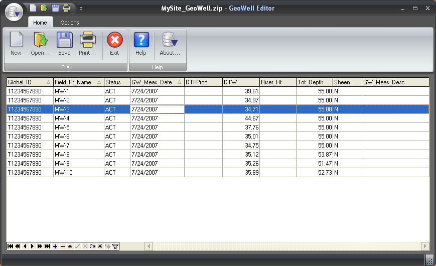 Click to view Geowell Editor 2011.1 screenshot